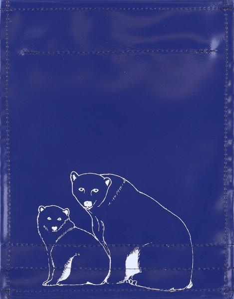 Exchangeable lid for bag - polar bear - dark blue/white - size S