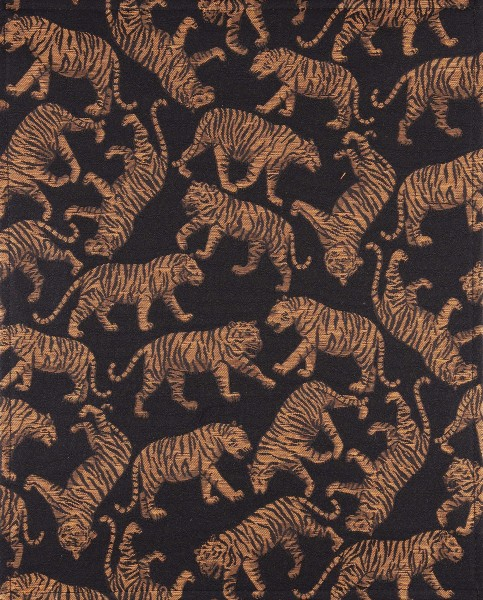 Exchangeable flap for shoulder bag - Panthera Tigris - black/ochre - size L