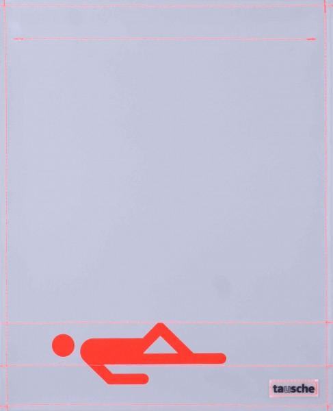 Interchangeable lid for shoulder bag - Sleeper - grey/orange - size L