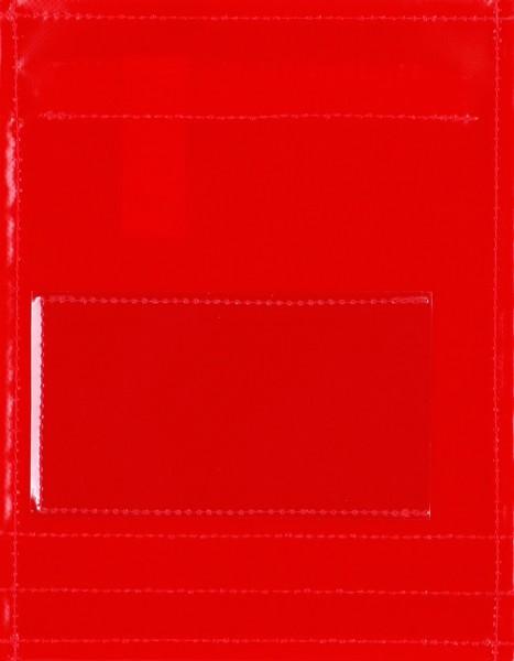 Wechseldeckel für Tasche/Rucksack - Fenster - rot - DIY - Größe S
