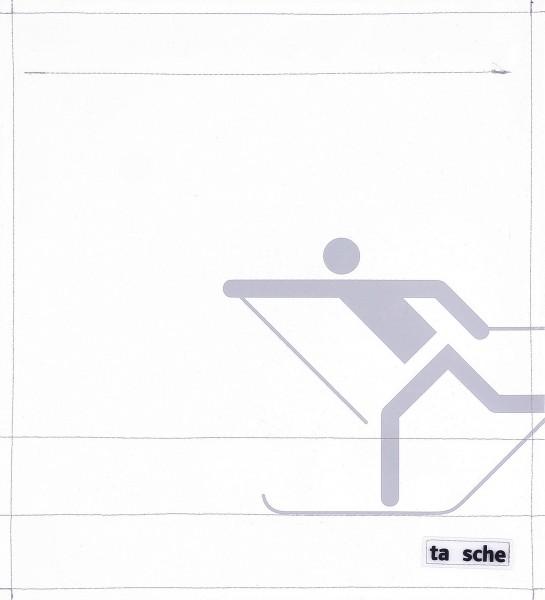 Deckel M - Skifahrer weiß/hellgrau