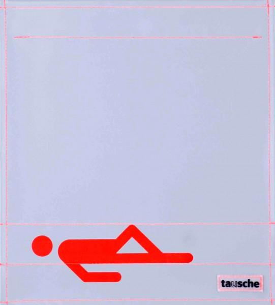 Wechselcover für Umhängetasche - Schläfer - grau/orange - Größe M