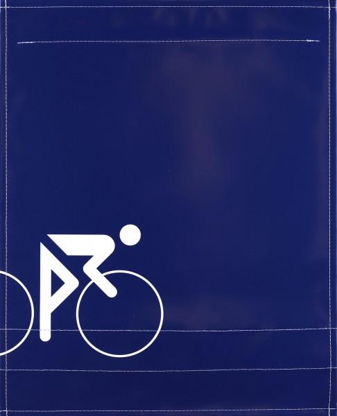 Interchangeable lid for shoulder bag - Cyclist - blue - Size L ✓