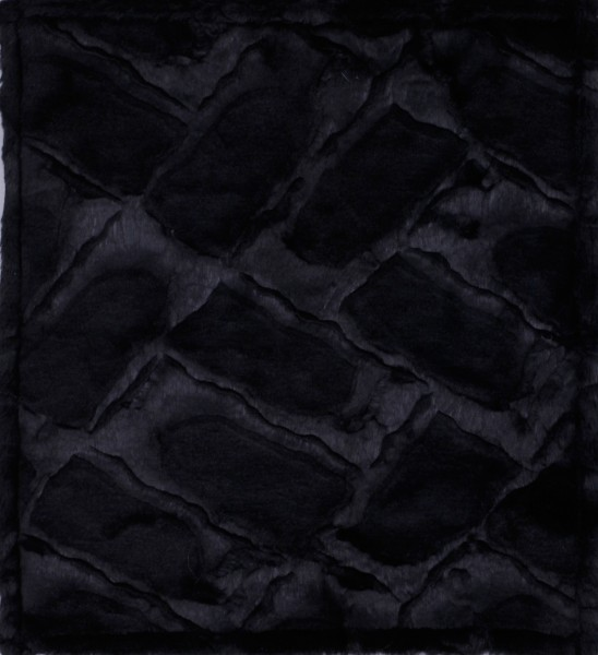 Exchangeable flap for the tausche bag made of noble decorated black faux fur