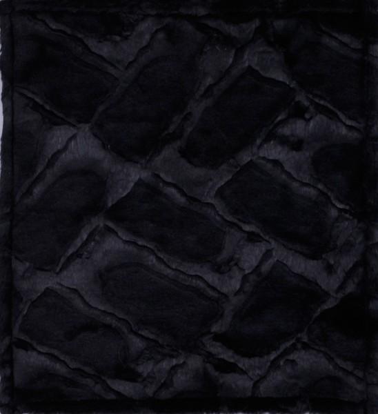 Wechselcover für Schultertasche - Samtfell - schwarz - Größe M