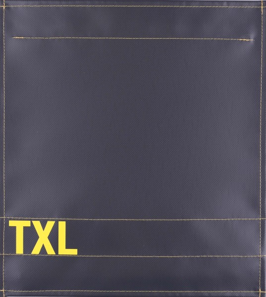Interchangeable flap for bag - TXL - anthracite/yellow - size M
