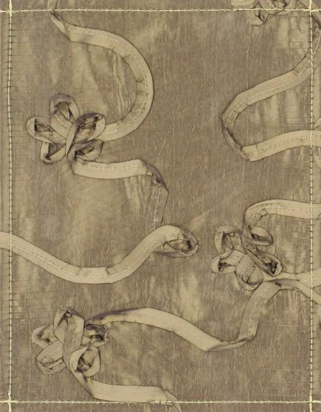 Deckel S - Taft Blumenband