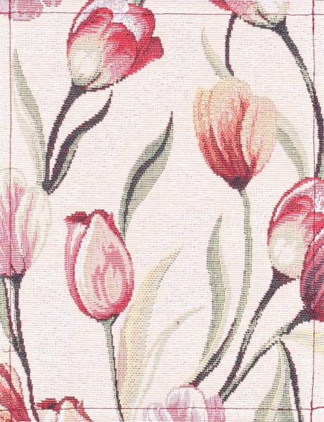 Exchangeable flap for shoulder bag - Tulipa- beige/burgundy - size S