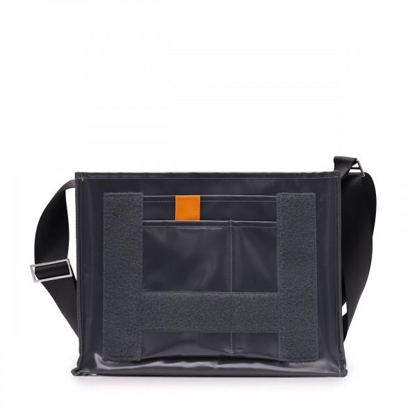 shoulder bag - to design yourself - »Tagediebin« (dawdler) - anthracite - 1