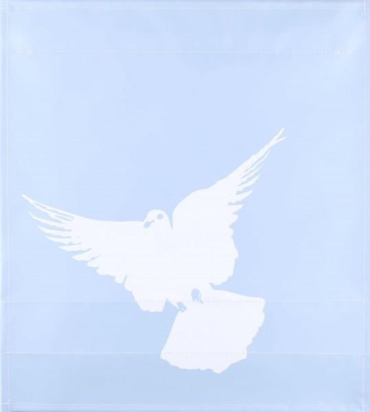 Exchangeable lid for bag - peace dove - light blue matt - size M