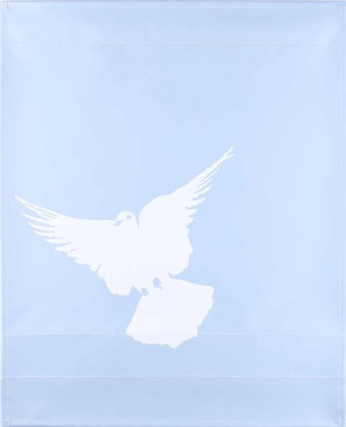 Wechseldeckel für Tasche - Friedenstaube - hellblau matt - Größe L
