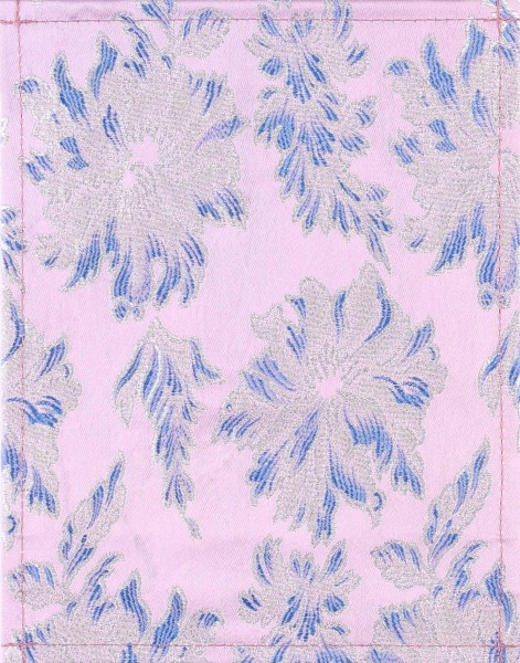 Exchangeable cover for handbag - Japanese flower - blue/pink - size S