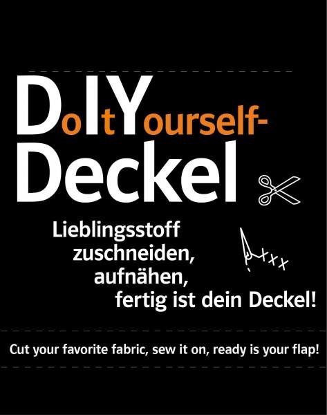 Wechselklappe für Tasche - DIY - Bastelset - schwarz - Größe S