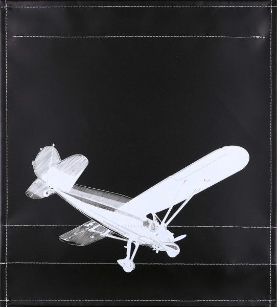 Wechseldeckel für Tasche - Hochdecker - schwarz/weiß - Größe S
