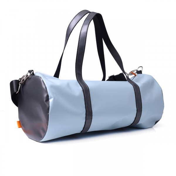 Sports bag - truck tarpaulin - Breitensportler (amateur athlete) - light blue/grey - 1