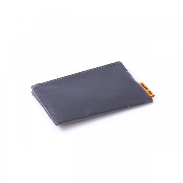 credit card cover - truck tarpaulin - anthracite - 1