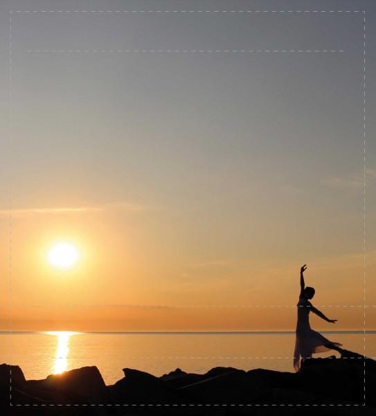 Wechselhülle für Tasche - Tanz auf Hiddensee - bunt - Größe M