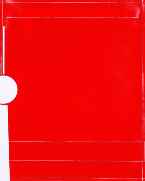 Wechseldeckel für Umhängetasche - Fernsehturm - rot/weiß - Größe L