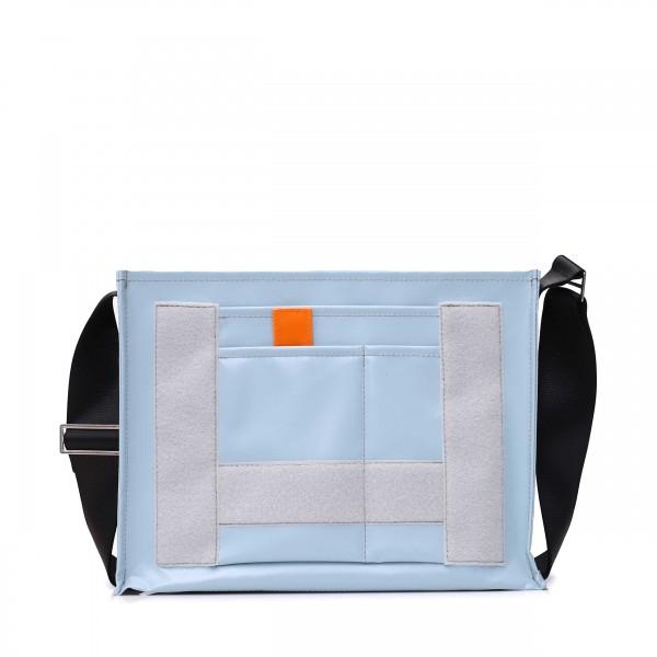 shoulder bag - to put together yourself - »Tagediebin« (dawdler) - light blue - 1
