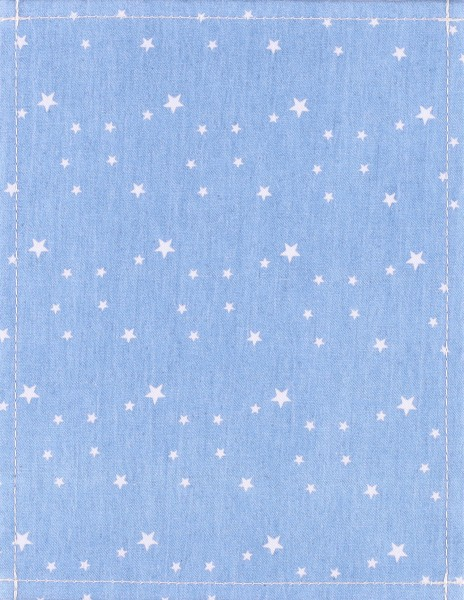 Exchangeable cover for bag - Jeans stars - light blue/white - size S