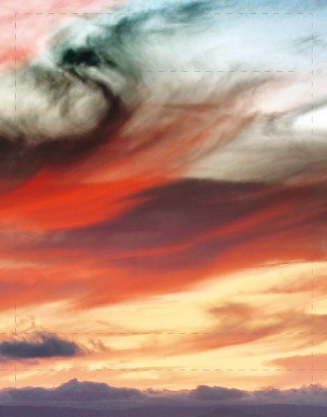 Deckel S - Bunte Wolken